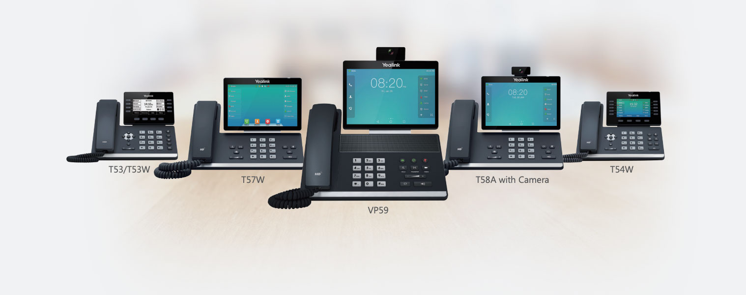 Yealink IP phones for use with cloud phone system for business
